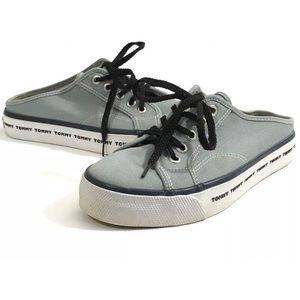 Vintage 90s Tommy Hilfiger Shoes Sz 6.5 Blue Mules